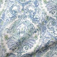 Lamasine Aquamarine Blue Floral Paisley Fabric by Swavelle Millcreek