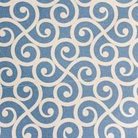 Armonk Sailor Blue Scroll Fabric by Swavelle Millcreek