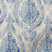 Copperidge Aquamarine Blue Floral Paisley Fabric by Swavelle Millcreek