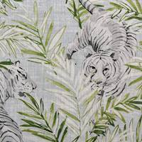 Maharani Snow Tiger Jungle Decorator Fabric