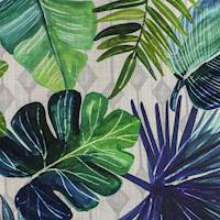 Bora Bora Blue Tropical Leaf Decorator Fabric