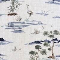 Karoku River Crane Home Decor Fabric