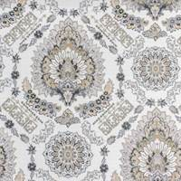 Rosabella Neutral Floral Medallion Home Decor Fabric