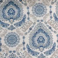 Rosabella Navy Floral Medallion Home Decor Fabric