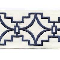 "Perigold Navy 4"" Border Tape Trim"