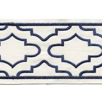 "Coventry Navy 4"" Border Tape Trim"