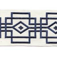 "Luxor Navy 4"" Border Tape Trim"