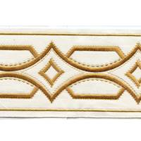 "Athena Brilliant Gold 4"" Border Tape Trim"