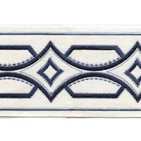 "Athena Navy 4"" Border Tape Trim"