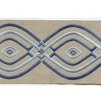 "Montauk Blue 4"" Border Tape Trim"