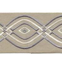"Montauk Grey 4"" Border Tape Trim"