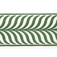 "3.43"" Crest Leaf Green Tape Trim"