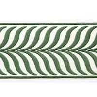 "3.43"" Crest Leaf Green Tape Trim"