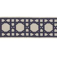 CC250 16 Navy Cream Fret Tape Trim