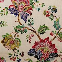 Plantation Multi Floral Drapery Fabric