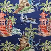 Emperor Navy Drapery Fabric