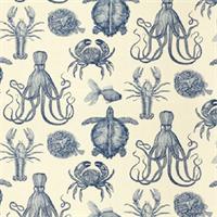 Oceanic Indigo 20956 193 Drapery Fabric by Duralee