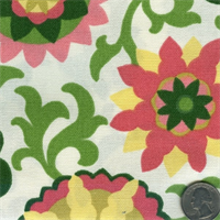 400860 Waverly Pink Green Pinwheel Parade 25 yd bolt fabric