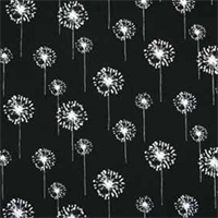 Small Dandelion Black White by Premier Prints - Drapery Fabric