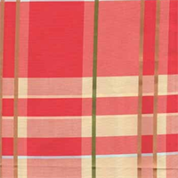 JLT-7887 #16 Redcheck Faux Silk Drapery Fabric by Europatex