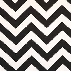 Zig Zag Black White Chevron Fabric by Premier Prints