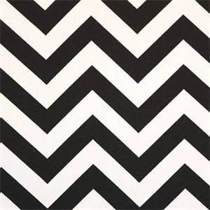 Zig Zag Black White Chevron Fabric by Premier Prints