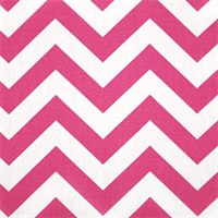 Zig Zag Candy Pink/White by Premier Prints - Drapery Fabric