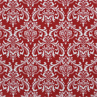 Madison White/Lipstick by Premier Prints - Drapery Fabric