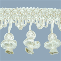 IR4292 - IV - Onion Tassel Bead Trim - Ivory - 20 Yard Reel