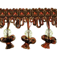 IR4292 - CHM - Onion Tassel Bead Trim - Chocolate Multi - 20 Yard Reel