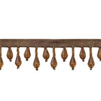 IR1670 - LBR - Teardrop Bead Fringe - Light Brown - 10 yard reel